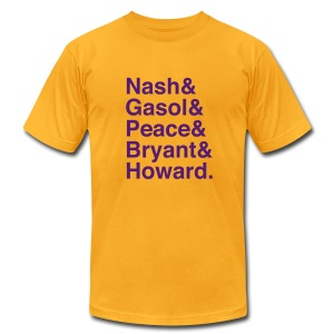 Los Angeles Lakers 12-13 - Men's T-Shirt by American Apparel