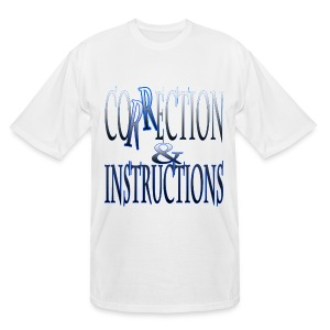 Correction & Instructions - Men's Tall T-Shirt