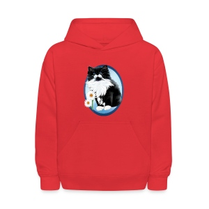 Kitten and Daisy Oval - Kids' Hoodie