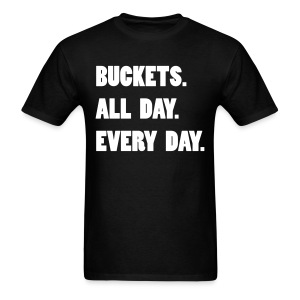 Buckets All Day - Dark - Men's T-Shirt