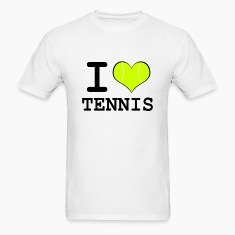 Men's I Heart Tennis T-shirt