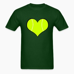 Men's Tennis Heart T-Shirt