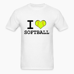 Men's I Heart Softball T-Shirt