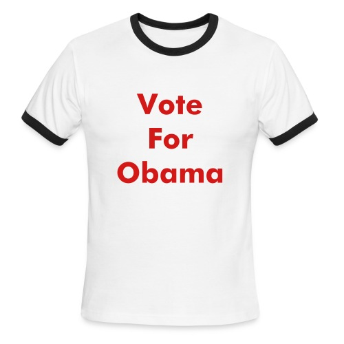 Vote For Obama Shirt, Napoleon Dynamite Style - Men's Ringer T-Shirt