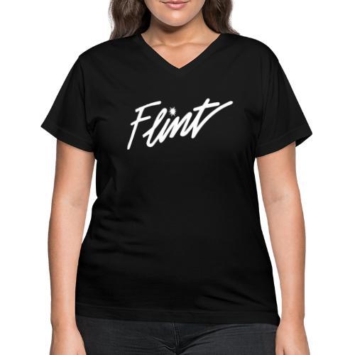 Flint Retro - Women's V-Neck T-Shirt