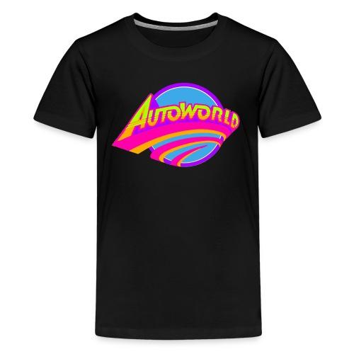 Autoworld (Neon) - Kids' Premium T-Shirt