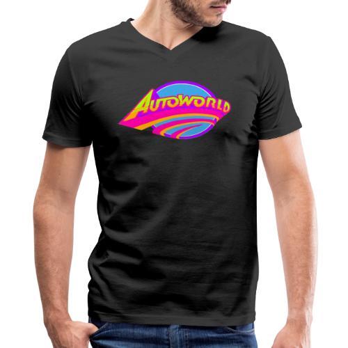 Autoworld (Neon) - Men's V-Neck T-Shirt by Canvas