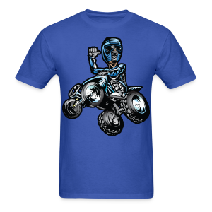 Blue ATV Quad Rider Thumbs Up - Men's T-Shirt