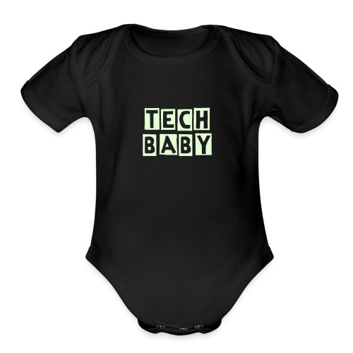 Tech Baby   - Organic Short Sleeve Baby Bodysuit