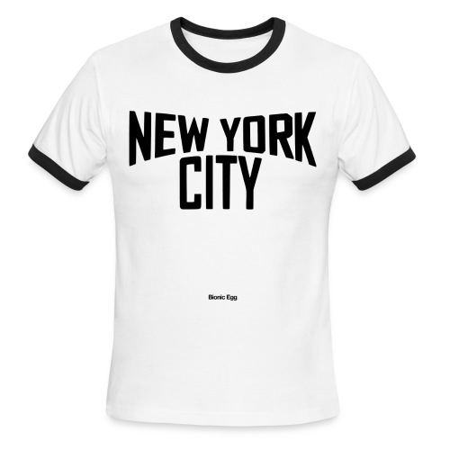 John Lennon New York City Men's Ringer Shirt - Men's Ringer T-Shirt