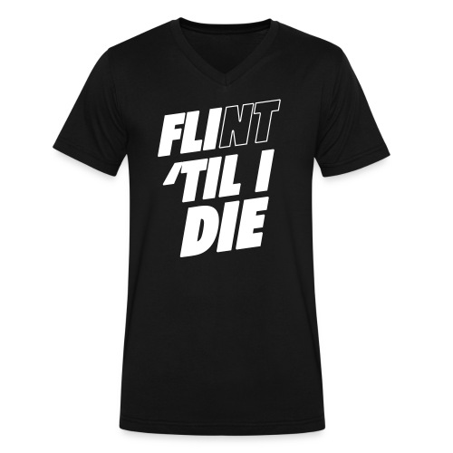 FLI til I Die - Men's V-Neck T-Shirt by Canvas