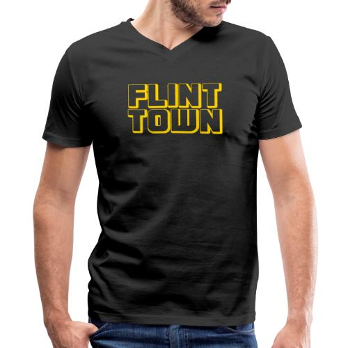 Flint Town - Men's V-Neck T-Shirt by Canvas