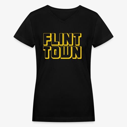 Flint Town - Women's V-Neck T-Shirt