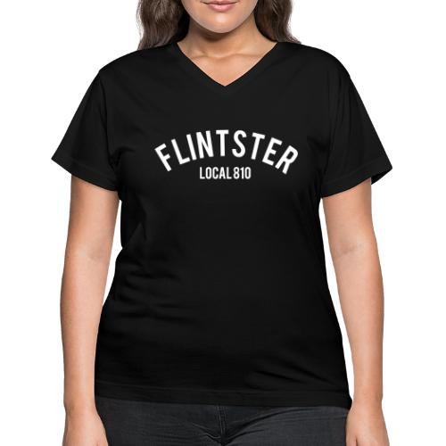 Flintster Local - Women's V-Neck T-Shirt
