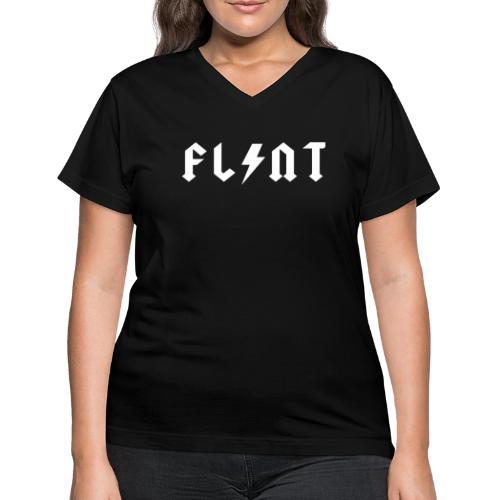 Flint Bolt - Women's V-Neck T-Shirt