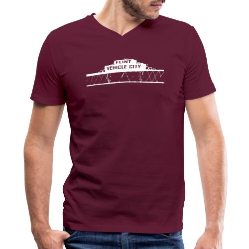 Flint Vehicle City - Men's V-Neck T-Shirt by Canvas