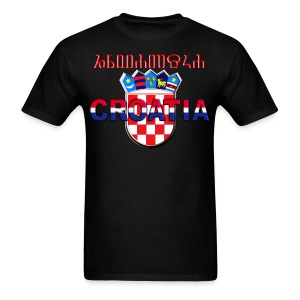 Shirt Croatia Hrvatska 3 color logo Sahovnica - Men's T-Shirt