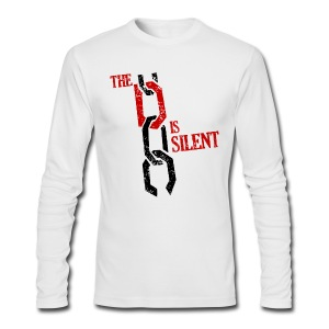 The D Is Silent - Men's Long Sleeve T-Shirt by Next Level