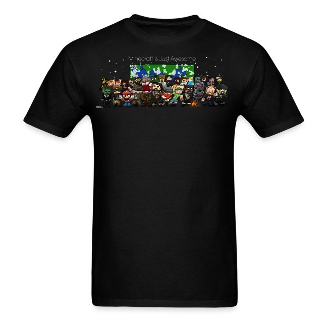 Minecraft Is Just Awesome T-Shirt (with finsgraphics logo)