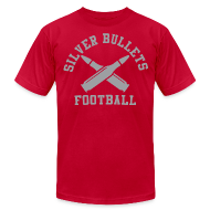 T-Shirts ~ Men's T-Shirt by American Apparel ~ SILVER BULLETS FOOTBALL