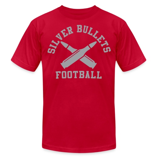 SILVER BULLETS FOOTBALL  - Men's Fine Jersey T-Shirt