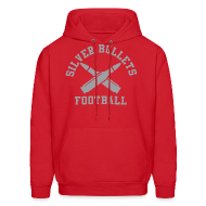 Hoodies ~ Men's Hoodie ~ SILVER BULLETS FOOTBALL