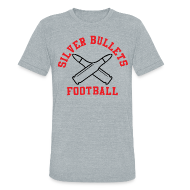 T-Shirts ~ Unisex Tri-Blend T-Shirt ~ SILVER BULLETS FOOTBALL
