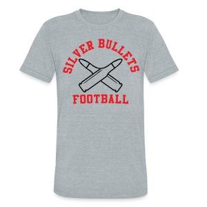 SILVER BULLETS FOOTBALL - Unisex Tri-Blend T-Shirt