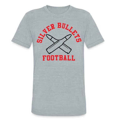 SILVER BULLETS FOOTBALL - Unisex Tri-Blend T-Shirt by American Apparel