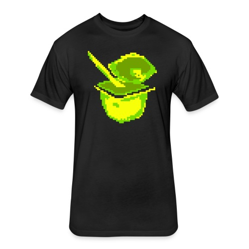 Pixel Cup - Lime Unisex T-shirt - Fitted Cotton/Poly T-Shirt by Next Level