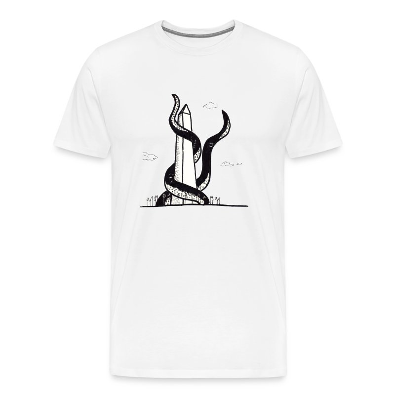 Tentacles on the Washington Monument T-Shirts - Men's Premium T-Shirt