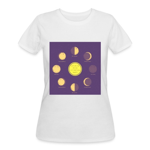 Moon Phased Ladies' Tee - Women's 50/50 T-Shirt