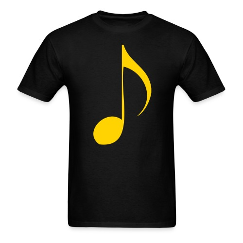 gold music note - Men's T-Shirt