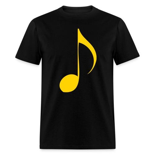 gold music note - Men's T-Shirt