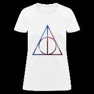 Women's T-Shirts ~ Women's T-Shirt ~ COSMIC DEATHLY HALLOWS - LADIES TSHIRT