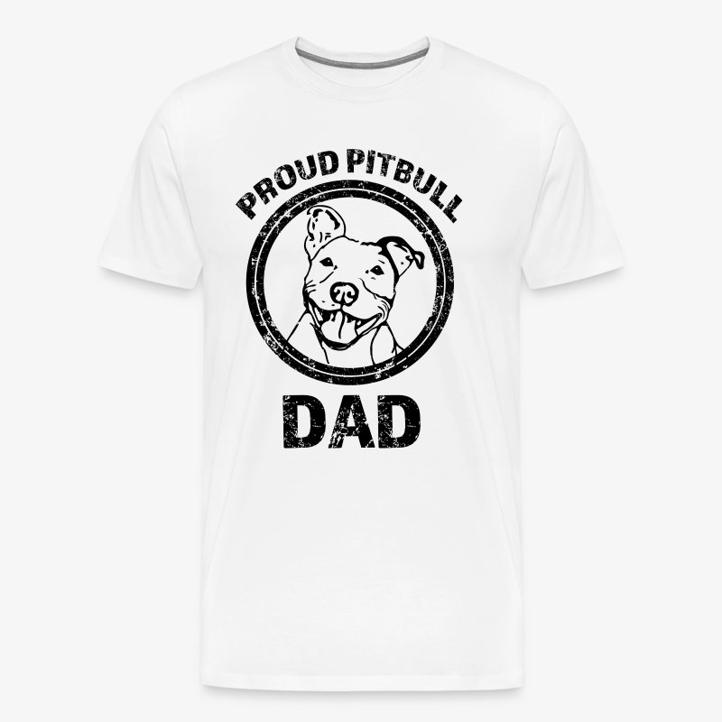 PROUD PITBULL DAD.png - Men's Premium T-Shirt