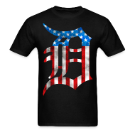 T-Shirts ~ Men's T-Shirt ~ Detroit American Flag Mens Tee