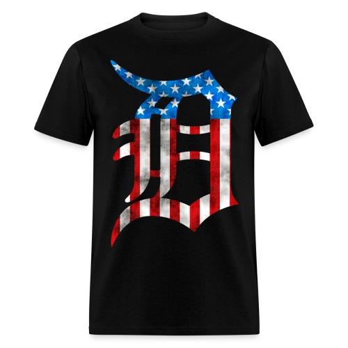 Detroit American Flag Mens Tee - Men's T-Shirt