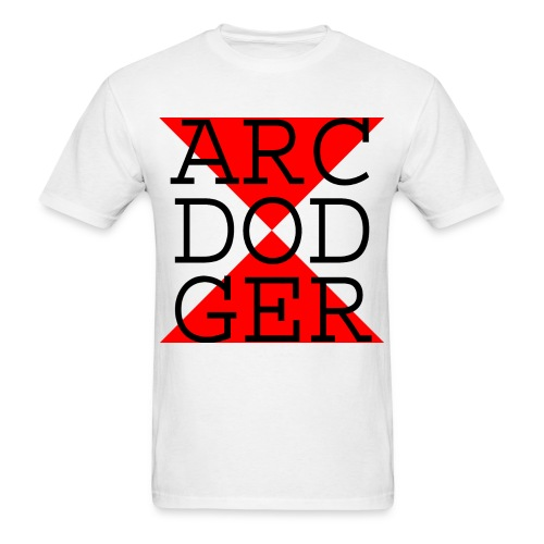 ARC DODGER - Black Text - Men's T-Shirt