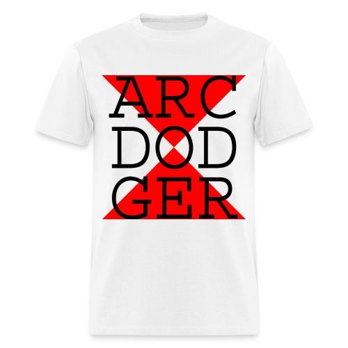 ARC DODGER - Black Text - Men's T-Shirt