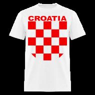 T-Shirts ~ Men's T-Shirt ~ Croatia Hrvatska Sahovnica Shirt