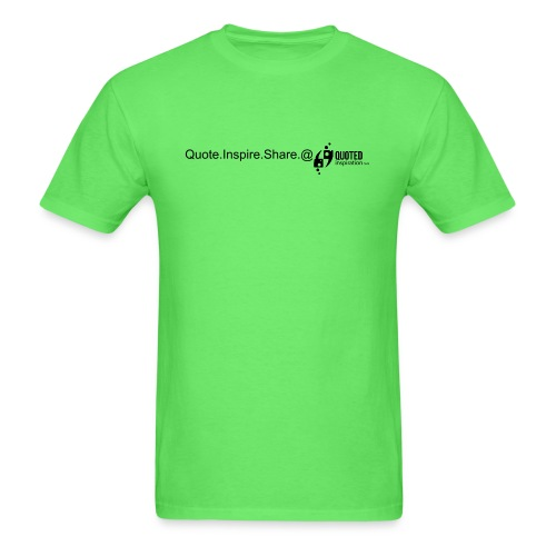 Men's Green QI Tee w/Logo and Message - Men's T-Shirt