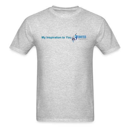 Men's Grey QI Tee w/Message - Men's T-Shirt