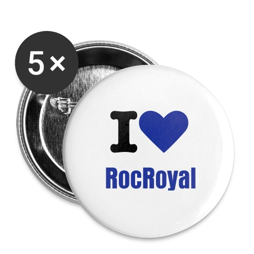i luv rocroyal pin - Large Buttons