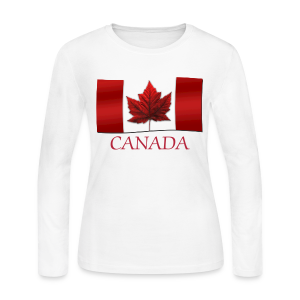 Women's Canada Shirt Long Sleeve Canada Souvenir - Women's Long Sleeve Jersey T-Shirt