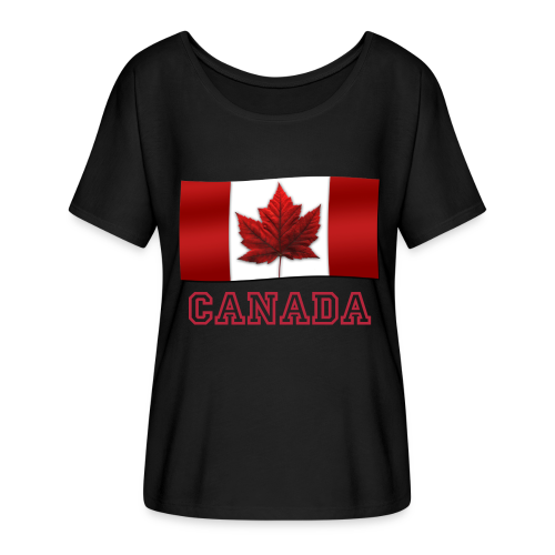 Women's Canada T-shirt Canada Flag Shirts Canada Souvenir Lady's Shirts - Women's Flowy T-Shirt