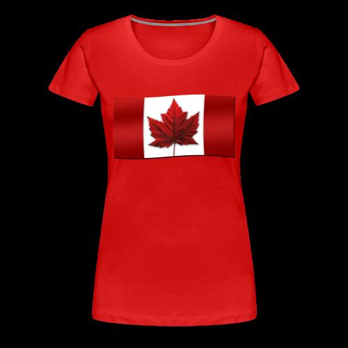 Women's Canada T-shirt Plus Size Shirts Canada Souvenir Lady's Shirts - Women's Premium T-Shirt