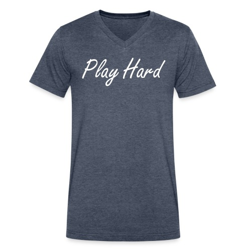 Play Hard - Men's V-Neck T-Shirt by Canvas
