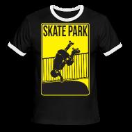 T-Shirts ~ Men's Ringer T-Shirt ~ RollerDerbySkatePark Ringer Tee