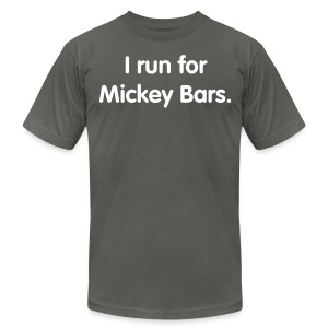 Mickey Bar (Men's Slim Cut) - Men's T-Shirt by American Apparel